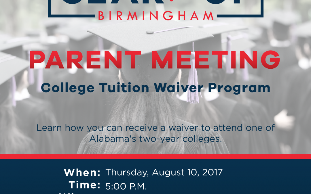 Parent Tuition Waiver Meeting – August 10, 2017