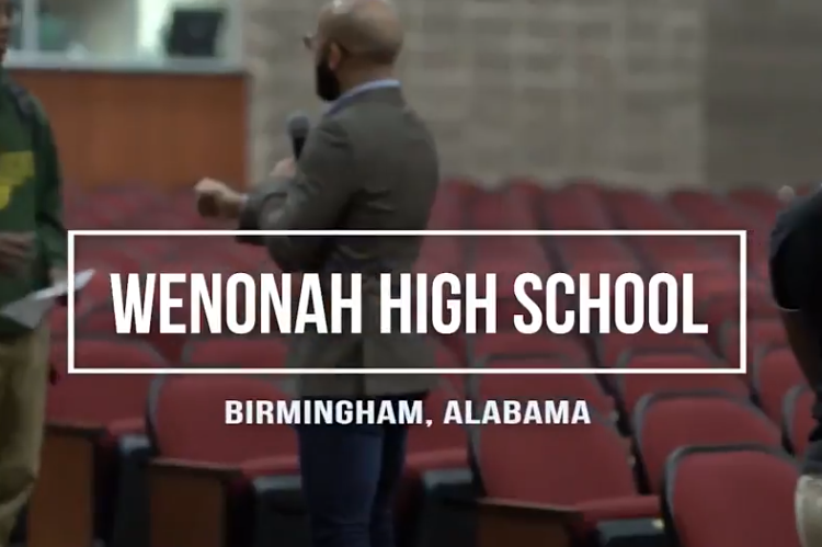 Student Success Agency Kick-off Tour at Wenonah High School