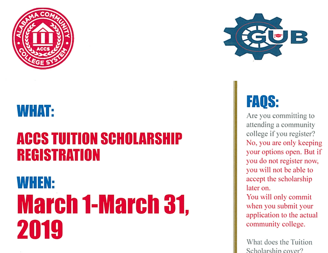 ACCS Tuition Scholarship Registration